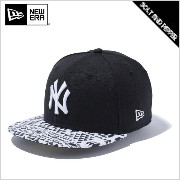 NEWERA ニューエラ 59FIFTY KIDS NATIVE BW NEWYORK YANKEES SNAPBACK CAP YOUTH BLACK WHITE キッズ ユース ニューヨーク ヤンキース ...