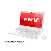 FMVA53A3W【税込】 富士通 15.6型ワイド ノートパソコンFMV LIFEBOOK AH53/A3プレミアムホワイト (Office Home&Business Premium...