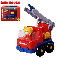 MIKIHOUSE(ミキハウス)消防車(箱付)(車のおもちゃ) ---,赤