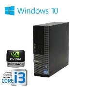 中古パソコン ゲーミングPC DELL Optiplex 7010SF Core i3 3220 3.3GHzメモリ32GB HDD新品1TB DVDマルチ GeForce GT730 HDMI内蔵Windows10...