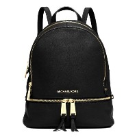 [マイケルコース] MICHAEL KORS RHEA SMALL LEATHER BACKPACK バックパック (30S5GEZB1L) BLACK [並行輸入品]