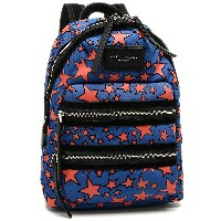 マークジェイコブス バッグ MARC JACOBS M0009516 470 FLOCKED STARS PRINTED BIKER MINI BACKPACK リュック WEB BLUE MULTI