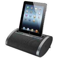 iHome iDL48BC デュアル Charging Portable Rechargeable スピーカー with Lightning ドック and USB Charge/プレイ for iPad /iPod and iPhone...
