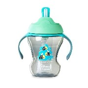 Tommee Tippee 8 Ounce Trainer Straw Cup - Teal Bees by Tommee Tippee [並行輸入品]