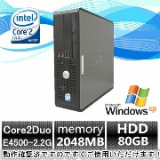 中古パソコン 中古デスクトップパソコン【Windows XP Pro】DELL Optiplex 760 Core2Duo E4500 2.2G〜/2G/80GB/DVD-ROM【EC】【DP1619-A8...