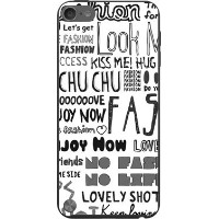 iPod touch 6G iPod touch6 アイポッド タッチ 6 ハードケース ハード カバー ガーリーフォント(モノトーン)