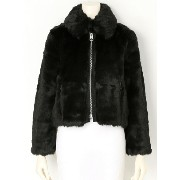 CHEAP MONDAY Pace fur jacket グレープヴァインバイケイスリー【送料無料】