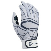カッターズ メンズ 野球 グローブ 手袋【Cutters Lead Off 2.0 Batting Gloves】White/Navy【10P03Dec16】