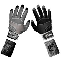 カッターズ メンズ 野球 グローブ 手袋【Cutters Prime Command Yin Yang Batting Gloves】Black/Grey【10P03Dec16】