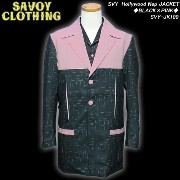 SAVOY CLOTHINGサヴォイクロージング◆SVY Hollywood Nep JACKET◆◆BLACK×PINK◆SVY-JK100