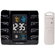 AcuRite 13020 Intelli-Time Projection Alarm Clock with Temperature and USB Charging [並行輸入品]