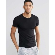 Hugo Boss Muscle Fit Rib T-Shirt Tシャツ In Black