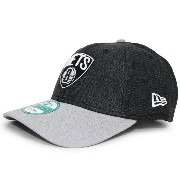 (ニューエラ) NEW ERA BROOKLYN NETS 【PINCH HITTER 9FORTY ADJUSTABLE/HEATHER BLK-GREY】 ブルックリン ネッツ