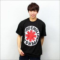 ◎Red Hot Chili Peppers Tシャツ WHITE CIRCLE ASTERISK 黒 (レッチリ)