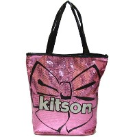 KITSON/キットソン スパンコールトートバッグ Los Angeles Bow Sequin Tote【ラッピング無料】【楽ギフ_包装】【10P11Mar16...