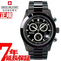 スイスミリタリー 腕時計 SWISS MILITARY PVD BLACK BIG CHRONO ML247