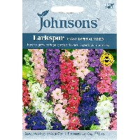 【輸入種子】Johnsons SeedsLarkspur Giant Impeial Mixedラークスパー(千鳥草)・ジャイアント・インペリアルジョンソ...