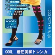COOL(クール)着圧美脚トレンカ 3枚セット(キシリトール加工 夏用トレンカ)