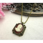 Michel's Vintage Beads Neckrace Cameoヴィンテージビーズネックレス・カメオ【10P03Dec16】
