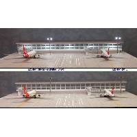 Roteiro空港模型【建屋付2機用ターミナル】(1/400スケール)DeltaGroove R4-02L(Terminal)
