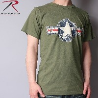 ROTHCO ロスコ Vintage ARMY AIR CORP T-Shirt OD アメリカ軍 ミリタリー【WIP03】