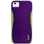 Case-Mate 日本正規品 iPhoneSE / 5s / 5 POP! with Stand Case, Violet / Chartreuse Green ハイブリッド シームレス スタンド ケース...