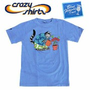 Crazy Shirts(クレイジーシャツ) S/S Tee @BLUE HAWAII DYED[1023753] Kliban Live Aloha Cat クリバンキャット 半袖 Tシャツ HAWAII ハ...