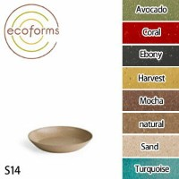 Ecoforms(エコフォームズ) ソーサー14 Avocado・Coral・Ebony・Harvest・Mocha・Natural・Sand・Turquoise【TC】【FS】受け皿/ガー...