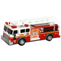 Toystate 14インチ レスキュー 消防車 Rush And Rescue Police And Fire - Hook And Ladder Fire Truck