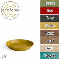 Ecoforms(エコフォームズ) ソーサー17 Avocado・Coral・Ebony・Harvest・Mocha・Natural・Sand・Turquoise【TC】【FS】受け皿/ガー...