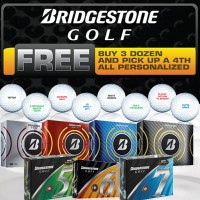 Bridgestone Buy 3 Get 1 Free with Free Personalization【ゴルフ 特注/オーダーメイド>特注-ボール】