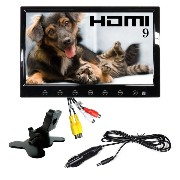 HDMI iPhone5充電可USB シガー 電源 スピーカー 付 9インチ オンダッシュモニター