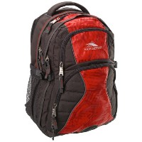 High Sierra ハイシェラ バックパック バタフライ チャコールレッド グレー Swerve Backpack, Charcoal Red/Grey, 19x13x7.75-Inch