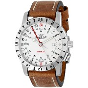 """Glycine グリシン メンズ腕時計 3887-11-LB7 """"Airman Base 22"""" Stainless Steel Automatic Watch with Leather Band"""