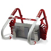 Kidde KL-2S 災害避難はしご 2階用(3.9m) コンパクト収納タイプ Two-Story Fire Escape Ladder with Anti-Slip Rungs, 13-Foot