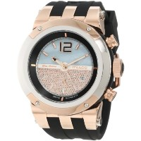 "Mulco マルコ 男女兼用腕時計 Unisex MW5-1621-023 ""Bluemarine"" Rose-Tone Watch with Black Silicone Strap"