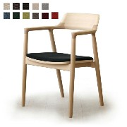 MARUNI COLLECTION HIROSHIMA ARM CHAIR cusioned(beech)No.2956-31 M-02(cc-nt)【マルニ木工/ヒロシマアームチェアクッション/ビーチ...