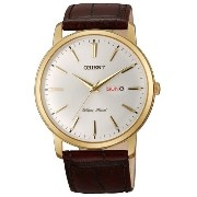 オリエント 時計 腕時計 Orient Capital Quartz Goldtone Dress Watch with Day and Date #UG1R001W