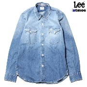 Lee for atmos WORK SHIRT【リー フォー アトモス ワーク シャツ】WASHED INDIGO15SS-S