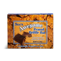 See's Candies【シーズキャンディー Awesome Peanut Brittle Bar ピーナッツブリットルバー 8本セット】