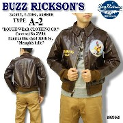 "【特典付】BUZZ RICKSON'S(バズリクソンズ)フライトジャケットType A-2『ROUGH WEAR CLOTHING CO. Hand aniline dyed 324th bomb.Sq. ""Memphis..."