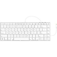【送料無料】 MACALLY iPad Retina/iPad mini/iPhone 5/iPod touch 第5世代対応 Lightning Keyboard for iOS (ホワイト) MFi認証 iKeyLT