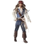 Barbie バービー Collector Pirates of The Caribbean: On Stranger Tides Captain Jack Sparrow Doll ド