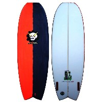 "VAMPIRATE GRAVEDIGGER 5'8"" RED/BLACK XF Twin エポキシ サーフボード サーフィン サーフボード 小波用THE SURFBOARD AGENCY 02P03Dec16"