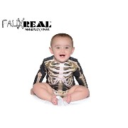 ☆Faux Real【フォーリアル】Infant Skeleton Long Sleeve Romper 13475 [コスプレ ベビー服 乳児 赤ちゃん 出産祝い 誕生日 ギフト]...