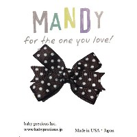 MANDY Baby Bows Brown with White Dot