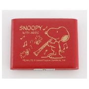 Teeda SNOOPY BAND COLLECTION スヌーピー×リードケース B♭クラリネット用 レッド 5枚収納 SCL-05R