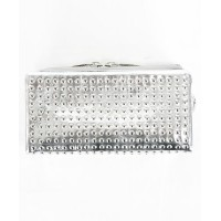 PATRICK STEPHAN(パトリックステファン) Leather long wallet fold 'all-studs' 長財布【156AWA28】SILVER×SILVER(01S.SILVER)