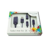 【PCATEC】 MicroUSB to HDMI /USB 変換ケーブル 2.0m ブラック☆通用版For Galaxy Note3/S5 【MHL 対応】
