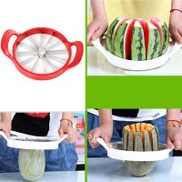 Kabalo Easy Fruit Melon Slicer - Cantaloupe Watermelon Slicer Kitchen Tool Stainless Steel Cutter